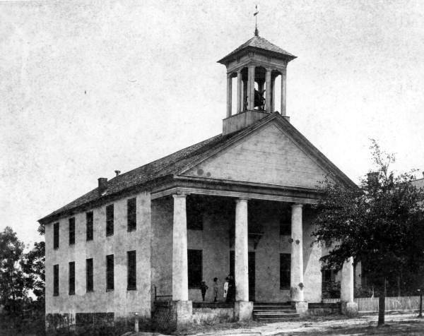 early Trinity church building